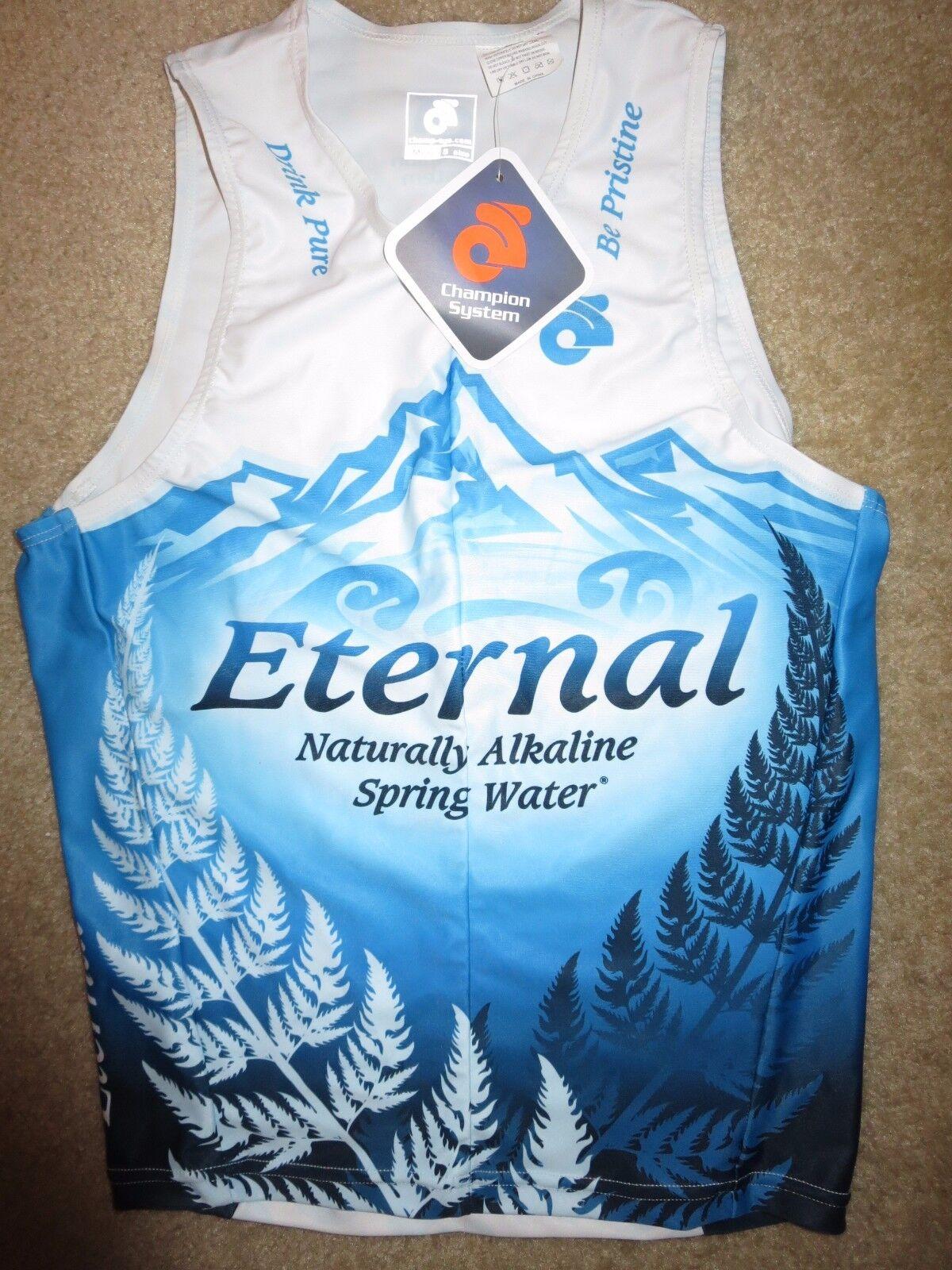 Eternal Spring Water Running Cycling Triathlon Champion System Jersey SM S NEW