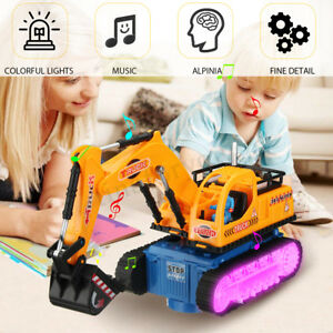 Kids-LED-Electric-Construction-Excavator-Digger-Vehicle-Truck-Car-Toy-Birt-Gift