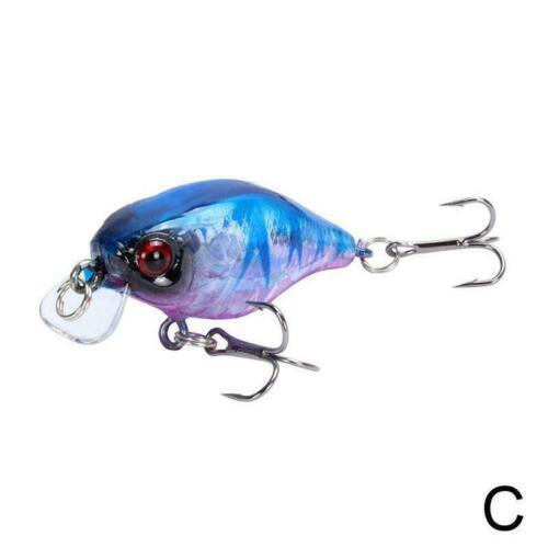Fishing Lure Artificial Crank Hard Bait Topwater Black Wobbler Fishing x1 I8M2
