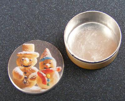 1:12 Scala Vuoto Ginger Pane Uomo Biscotti Latta Casa Delle Bambole Accessorio Da Cucina Bt11- Sii Amichevole In Uso