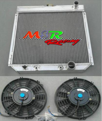 aluminum radiator /& plastic fans for Ford Ranchero//Fairlane 1966 1967 1968 1969