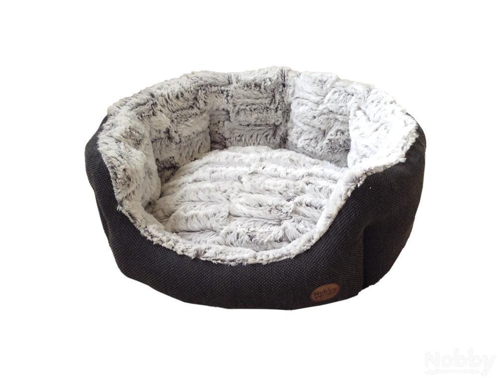Nobby Komfort Bett oval CACHO dunkelgrau LxBxH  86x70x24cm