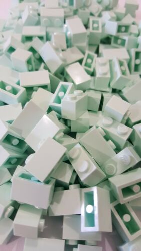 3004 ,20 parts Lego Light Aqua Brick 1 x 2