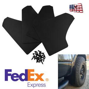 4PCS-15-3-034-Car-Mud-Flaps-Black-Splash-Guards-With-20Pcs-6mm-Fastener-Rivet-Clips