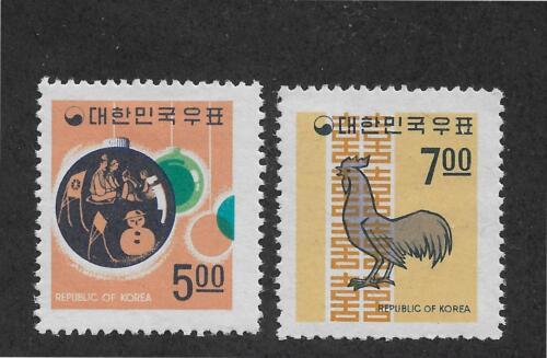 Korea Scott # 628-629 VF mint hinged,Sc 629 MNH**,scv $19 see pic!