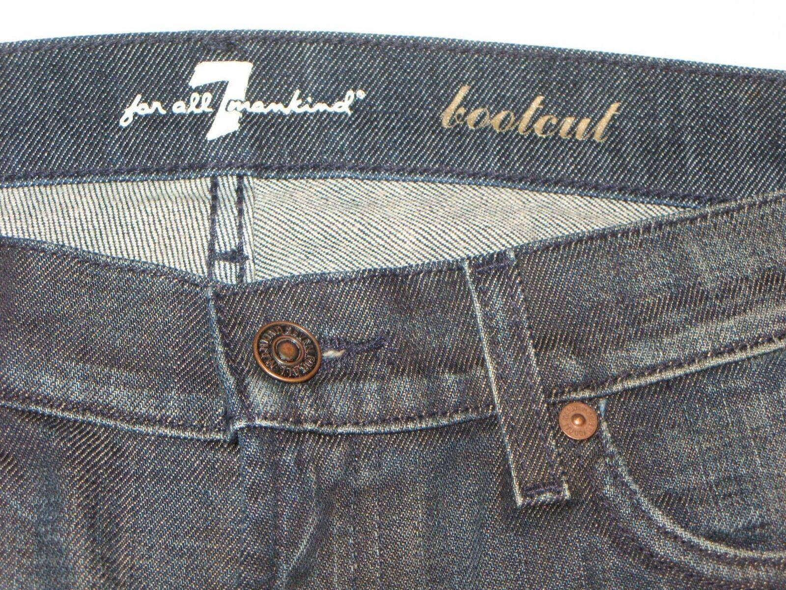 7 für Alle Damen Stiefelcut Jeans Sz 30 mit mit mit Stretch Manhattan Dunkel Distressed   Mittlere Kosten  d167cb