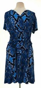 Womens-Michael-Kors-blue-amp-black-dress-size-L