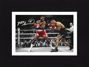 8X6 Mount FRANK BRUNO & MIKE TYSON Signed Autograph PHOTO Boxing Print