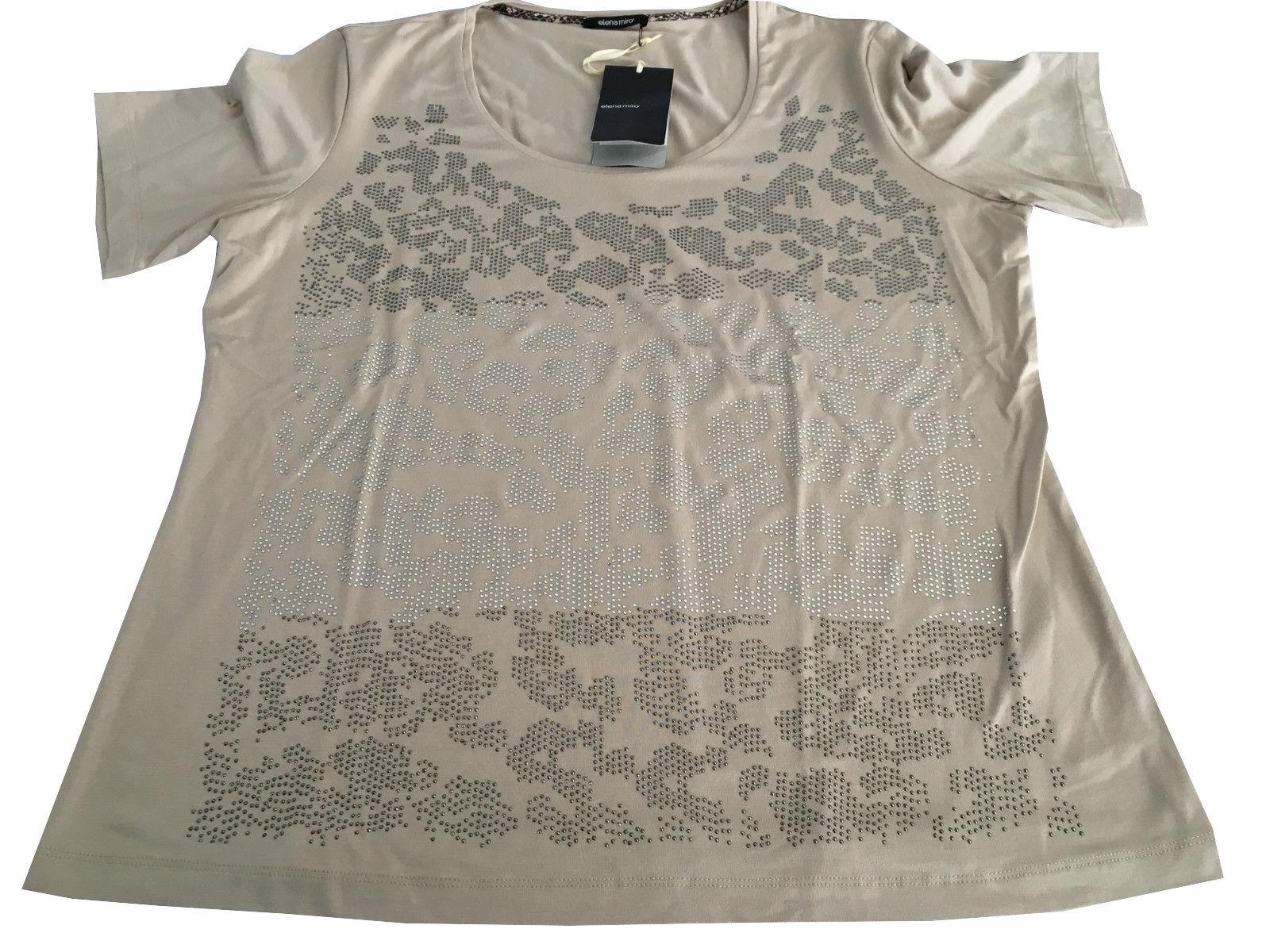 ELENA MIRO MIRO MIRO ' t - shirt donna mezza manica applicazioni strass 95% viscosa 00233d