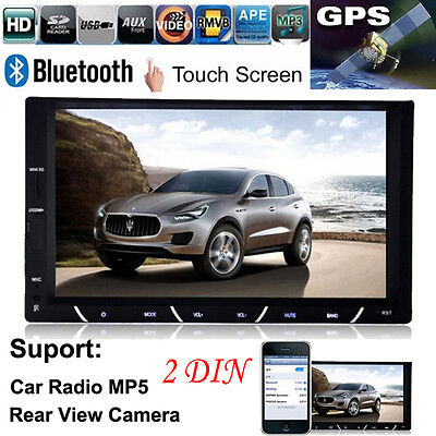 "7"" HD 1080P 2 DIN In-Dash Bluetooth Car Stereo Android FM Radio MP3 MP5 Player"