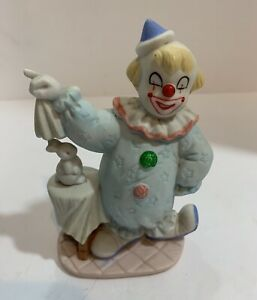 626011b5f6c78 Details about Cute Clown Vintage Decor Circus Magician Magic With Rabbit  Bunny