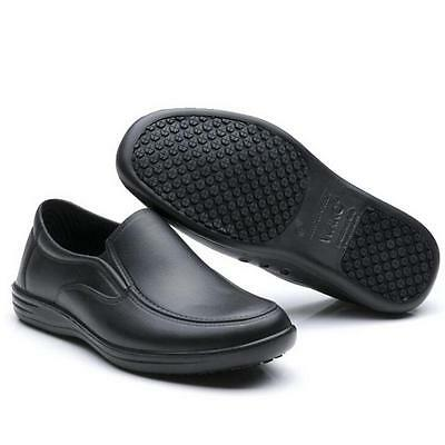 Mens Chef Shoes Nonslip Safety shoes for Kitchen Cook Oil Proof WaterProof