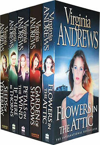 Womens-Flowers-in-the-Attic-Virginia-Andrews-5-Books-Collection-Set-Dollanger