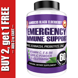 Immune Support Booster - Elderberry, Probiotics, Vitamin C, Zinc & Multi-Vitamin