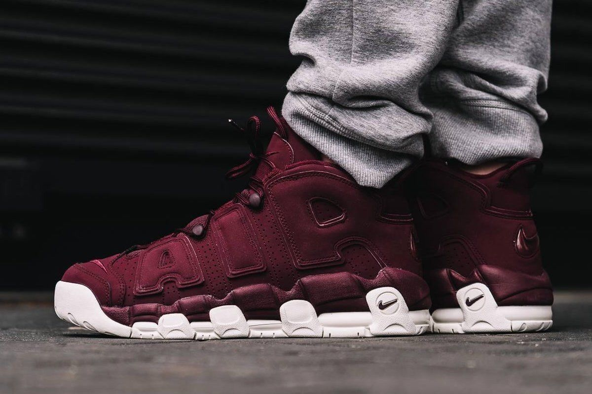 NIKE AIR MORE UPTEMPO QS 12 PIPPEN Maroon 1 Max 90 95 97 270 93 180 96 120 Cheap women's shoes women's shoes