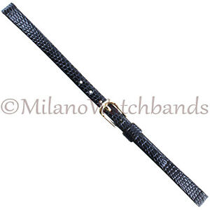 7mm-Pulsar-Black-Gray-Lizard-Grain-Unstitched-Genuine-Leather-Ladies-Band-Reg