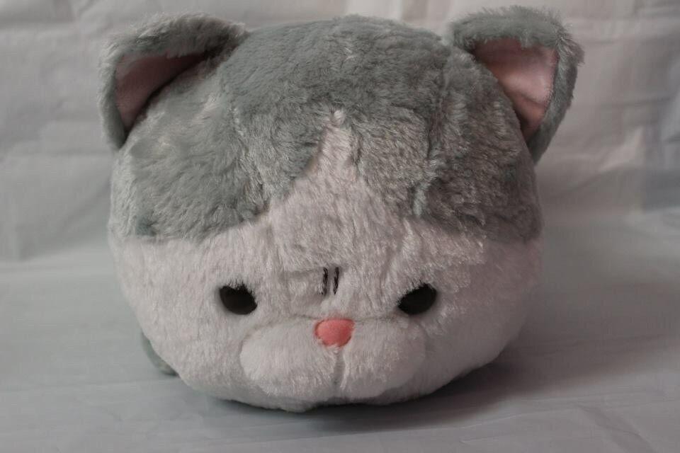 Amuse Ugly yet Cute Grey And White Cat Buchaneko-san Big Soft Toy Plush
