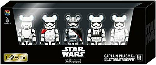 BE@RBRICK 100% Star wars Captein Phasma & Stormtroooer 5 body set Medicom Toy