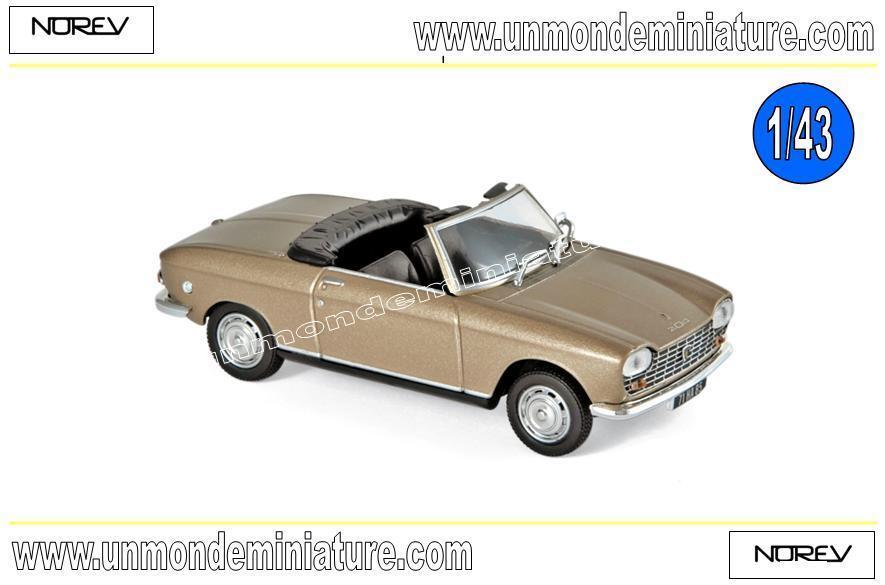 Peugeot 204 Cabriolet 1967 Beige metallic  NOREV - NO 472443 - Echelle 1 43
