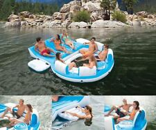 Nice Inflatable Pool Raft Oasis Island Floating Large 6 Person Lake Lounge Boat  River