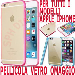 custodia iphone 7 silicone vetro
