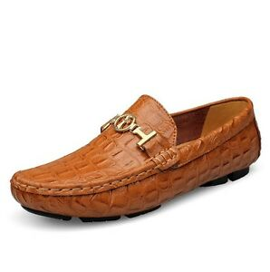 Moccasin Slip On Loafers  New Men/'s Driving Casual Boat Shoes Leather Shoes