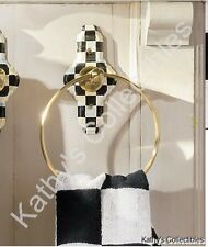 Authentic Mackenzie Childs    Courtly Check Enamel Towel Ring  New