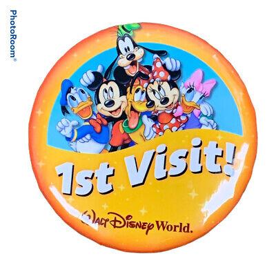Mickey//Minnie//Donald//Goofy//Daisy//Pluto 37mm button badges x 6 Disney pin badge