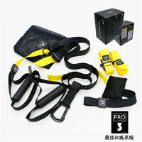 Home Gym Suspension Resistance Strength Training Straps Workout Trainer