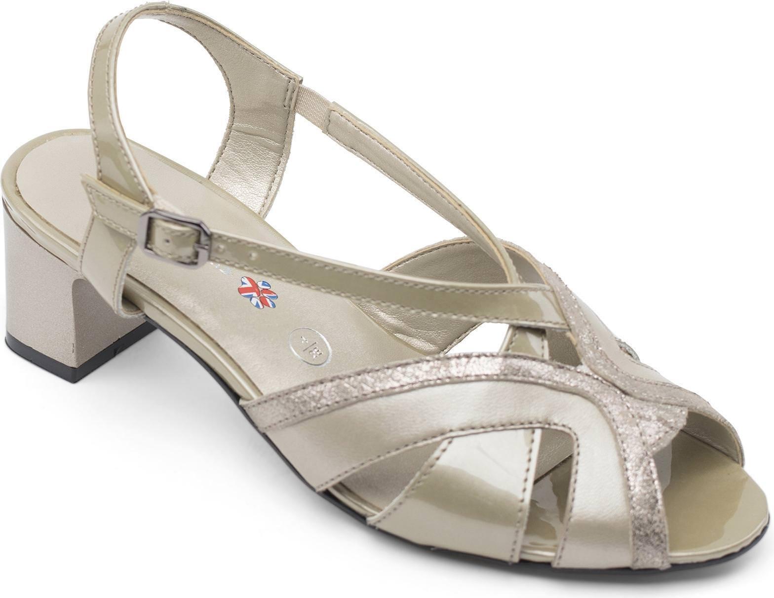 Padders Charm Donna in pelle extra ampia vestibilità (2E) Scarpe Pietra Perla