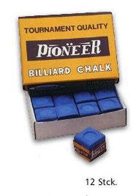 Pioneer Billardkreide, blau, 12 Stück im Karton