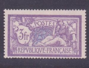 FRANCE-STAMP-TIMBRE-N-206-034-MERSON-3F-VIOLET-ET-BLEU-034-NEUF-xx-LUXE