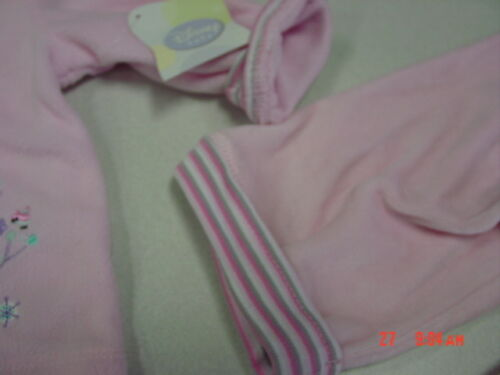 NWT Infant Girls 3 piece Disney Outfit Minnie Mouse Pink Velour 3-6 months