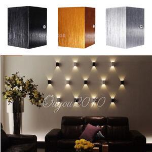 applique 3w led mural cube lampe spot luminaire fixation deco salle salon porche. Black Bedroom Furniture Sets. Home Design Ideas