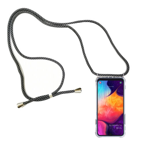 Funda movil cadena para Sony Xperia xa2 ultra bolsa cinta cuerda soga case gris