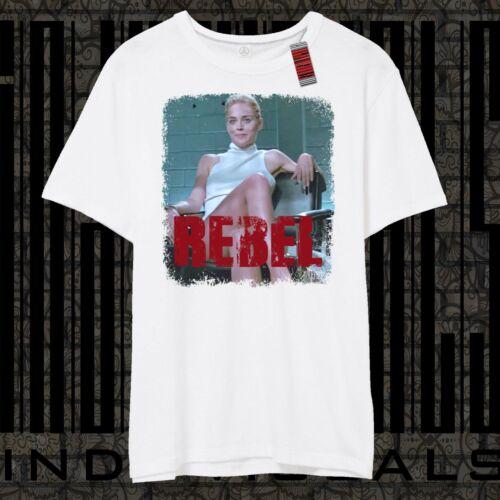 Sharon Stone Rebel BASIC INSTINCT Classic Retro Movie Vintage T-shirt Up to XXL
