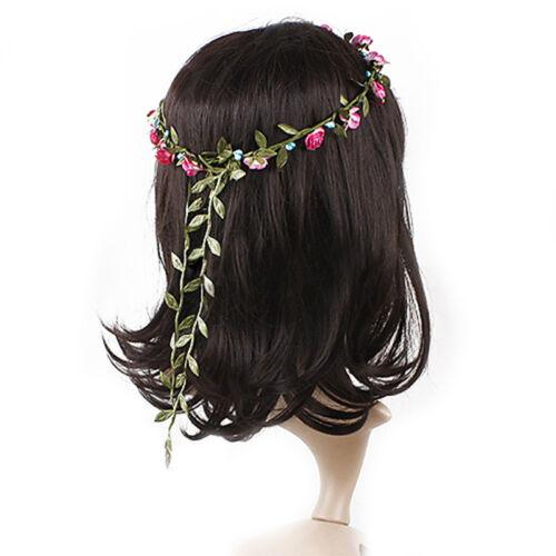 Böhmische Blumenkrone Hochzeit Girlande Stirn Haar Kopf Band Kranz Z /%F