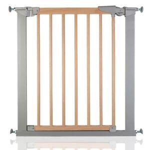 Babydan Avantgarde Wooden Baby Gate True Pressure Fit Stair Gate Silver Beech Ebay