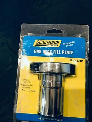 "Gas Fill Chrome Plate Zinc 1-1//2/"" Hose Seachoice 32041"