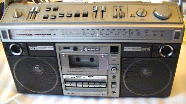 Vintage HITACHI TRK-819 Cassette player recorder boombox
