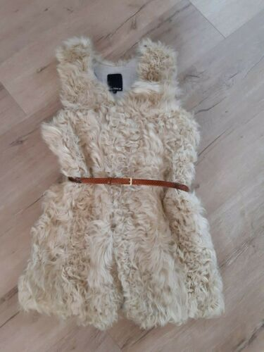 CREAM CURLY LAMB FUR VEST - image 1