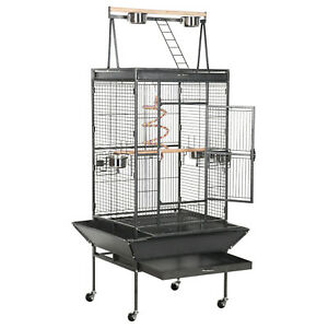68-61-inch-Large-Parrot-Bird-Cage-With-Playtop-Rolling-Stand-Bungee-Rope