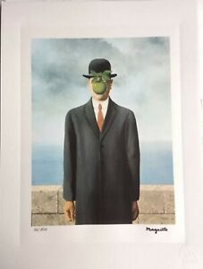 Rene-Magritte-Serigraphie-Signee-Et-Numerotee-Certificat-Stock-Limite