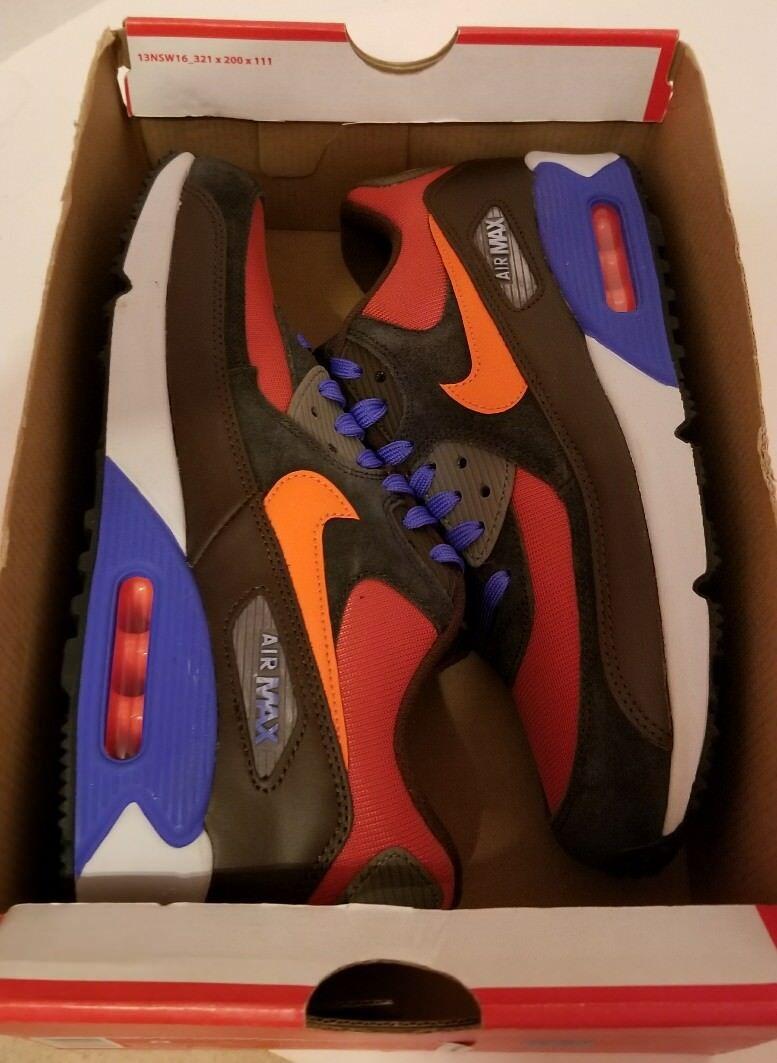 Nike Air Max 90 Winter PRM sz 8 Red Clay 683282 600 QS NOLID