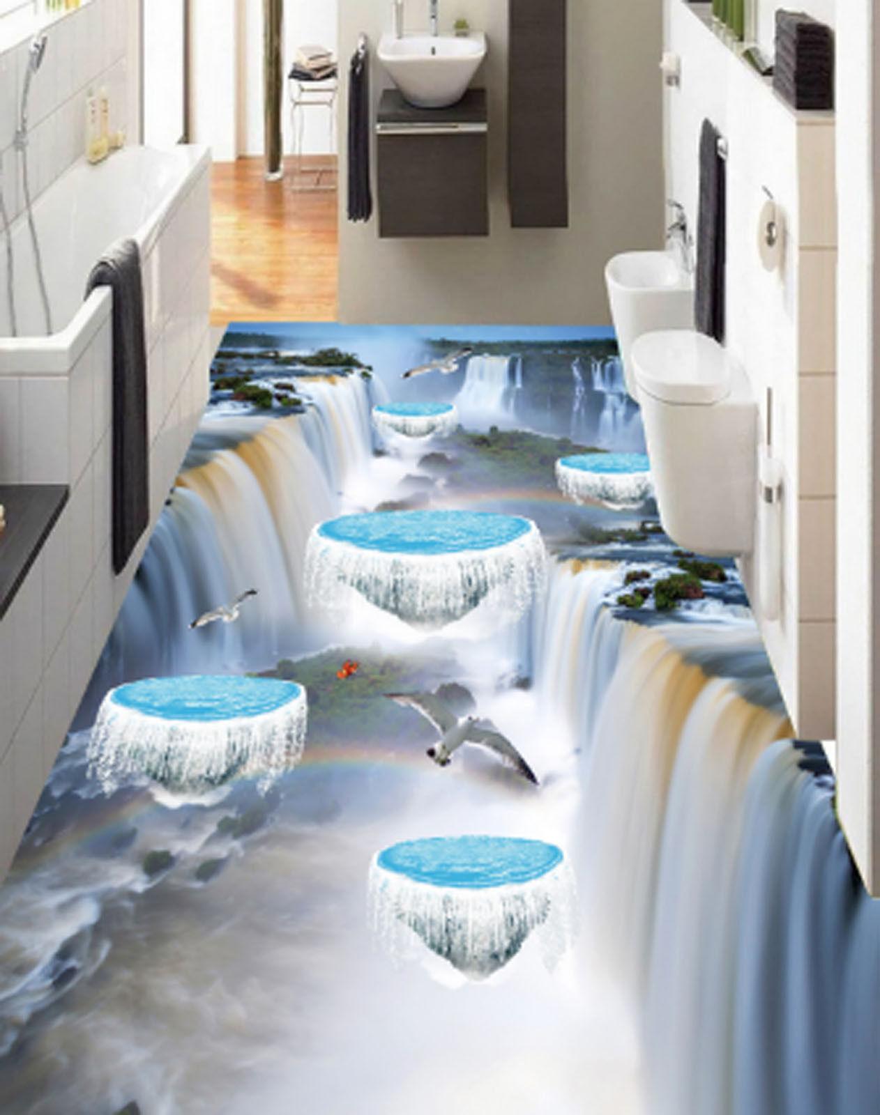 3D Great Waterfall 6903 Floor WallPaper Murals Wallpaper Mural Print AJ AU Lemon