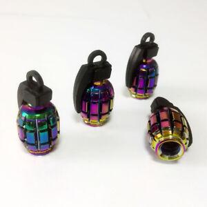 Bouchon-de-valve-d-039-air-pneu-grenade-couleur-multicolore-velo-voiture-moto-BMX