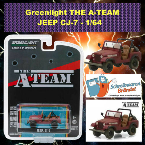 B.A 1:64 Hannibal Face Greenlight Hollywood A-Team Jeep CJ-7 Modellauto