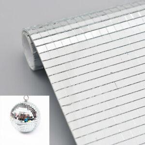 Self Adhesive Mini Mosaic Square Sticker Mirror Glass Wall ...
