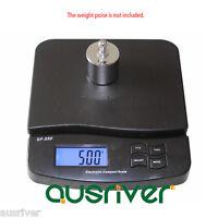 Black 25kg/1g Electronic Postal Scales Digital Kitchen Scale Power Adaptor