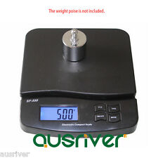 Premium Black 25kg/1g Electronic Commercial Postal Scales Digital Kitchen Scale